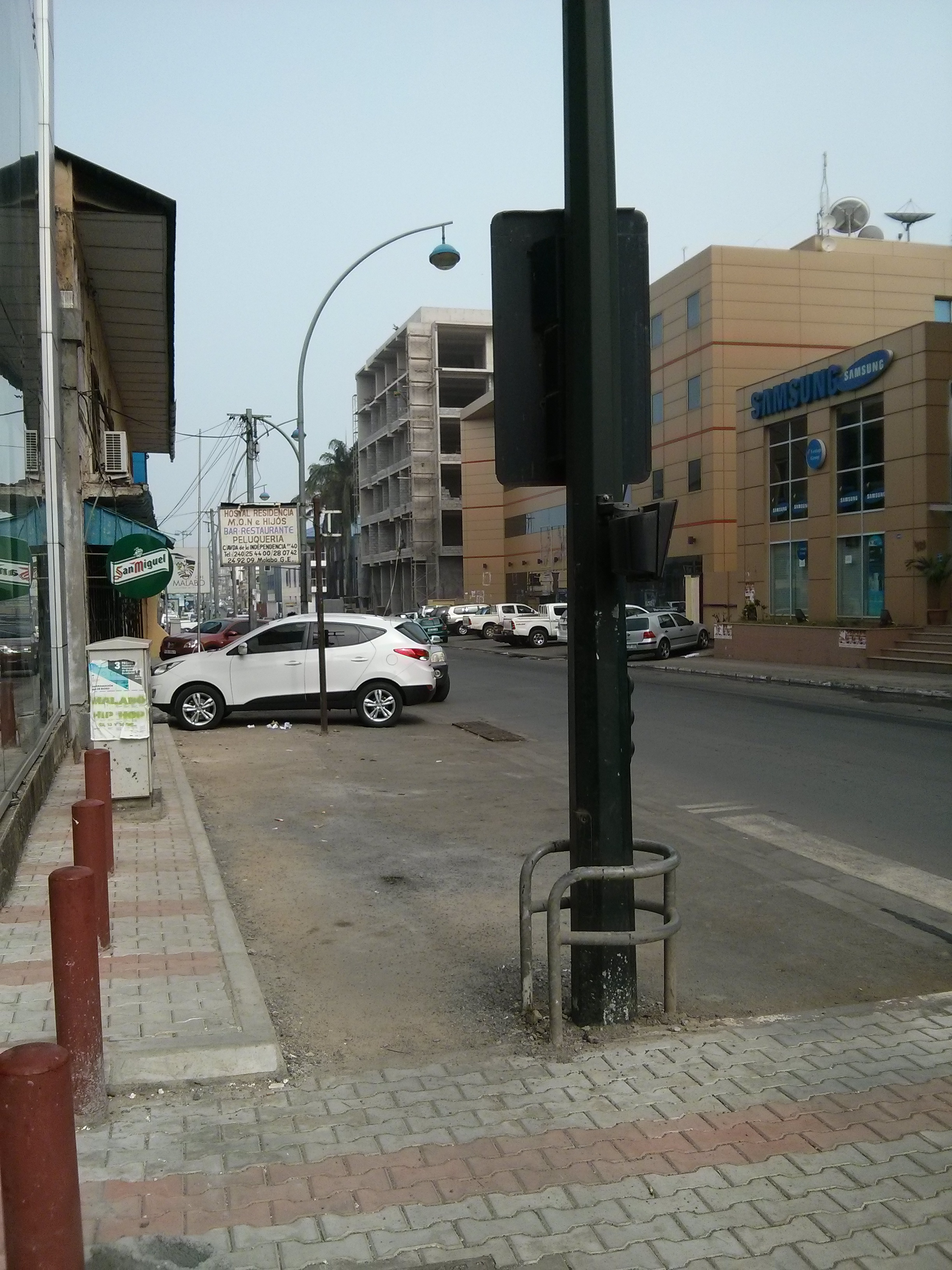 The street during Siesta hours.