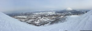 View of Niseko from the slopes (I didn't get up there!)