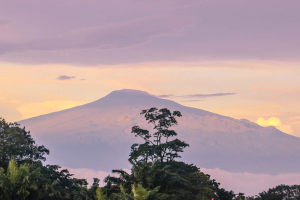 Mount Cameroon as seen from Malabo, Equatorial Guinea